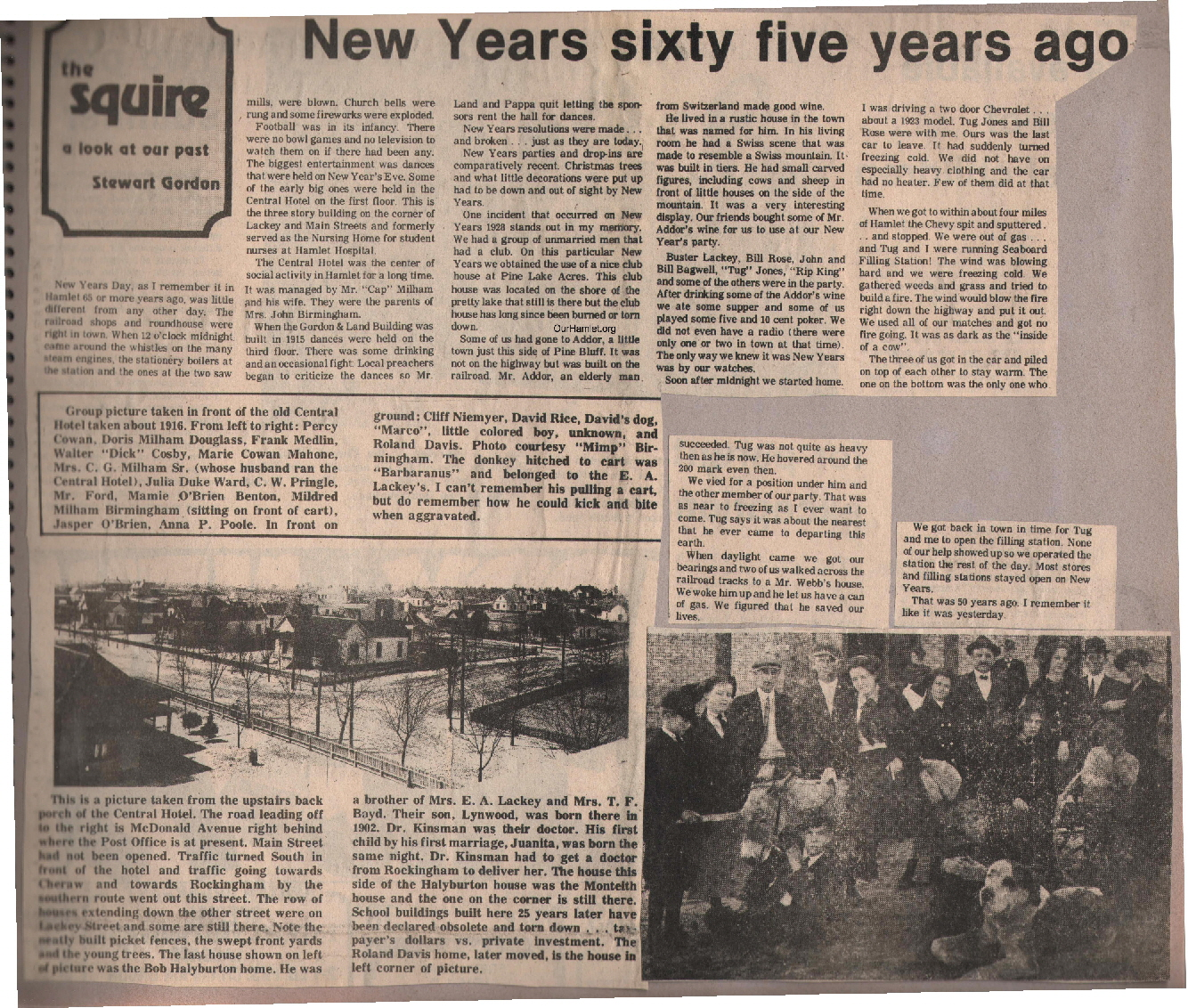 The Squire - New Years sixty five years ago OH