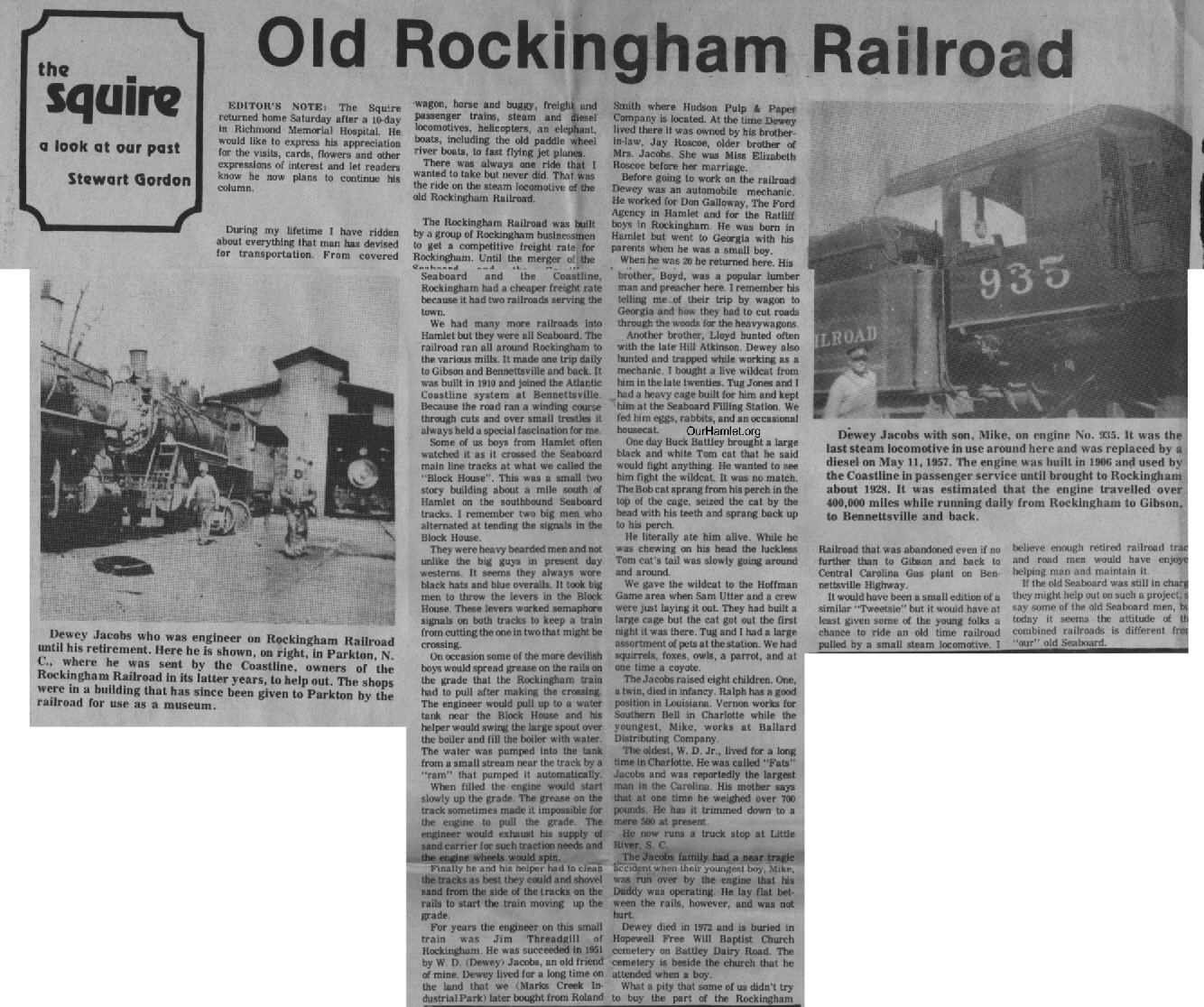 The Squire - Old Rockingham Railroad OH