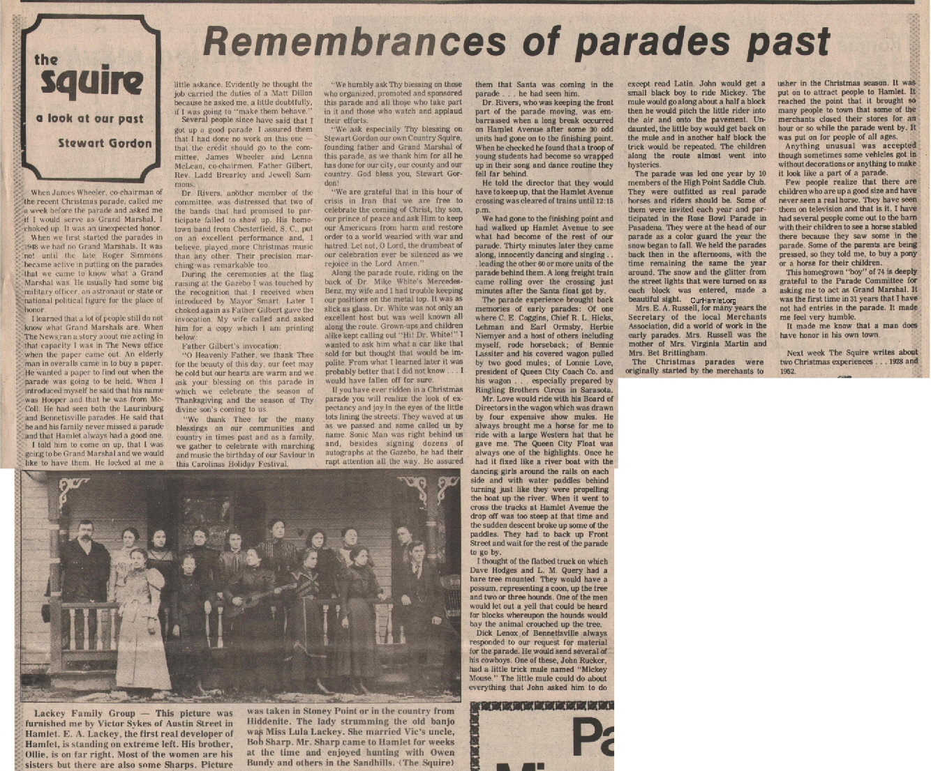 The Squire - Remembrances of parades past OH