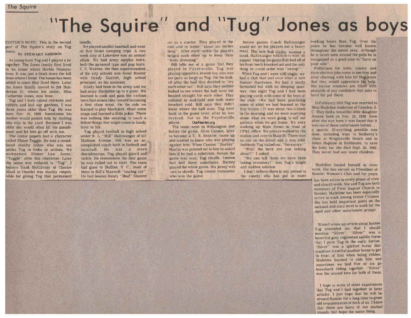 The Squire - Squire and Tug Jones as boys a OH