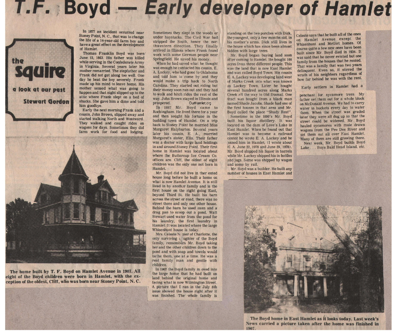 The Squire - T F Boyd - Early Developer OH