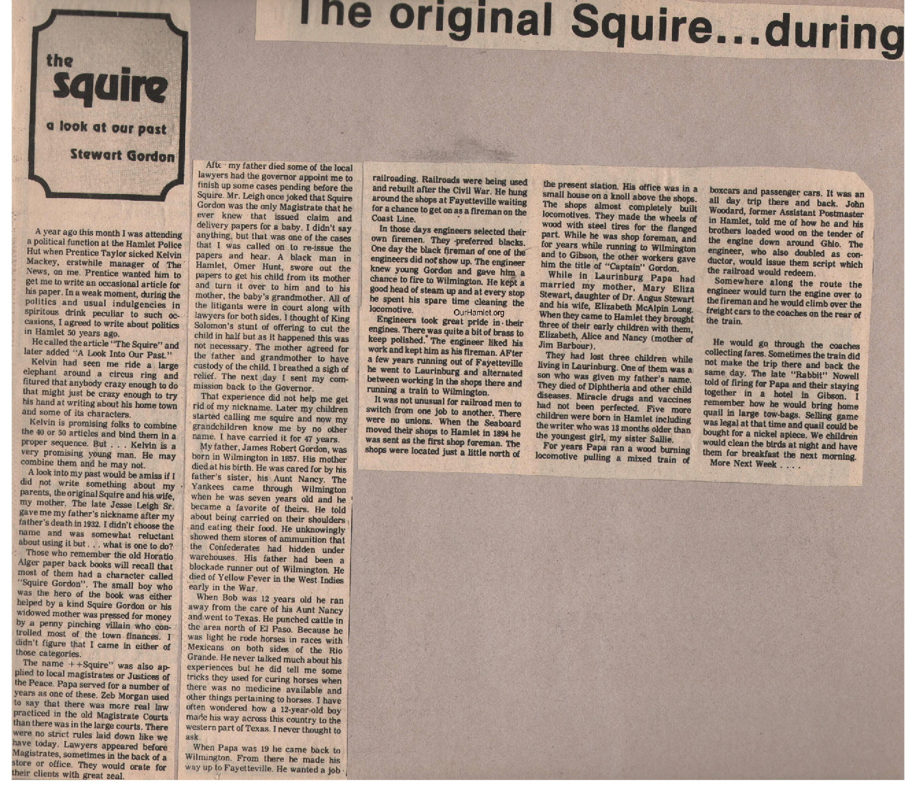 The Squire - The original Squire a OH
