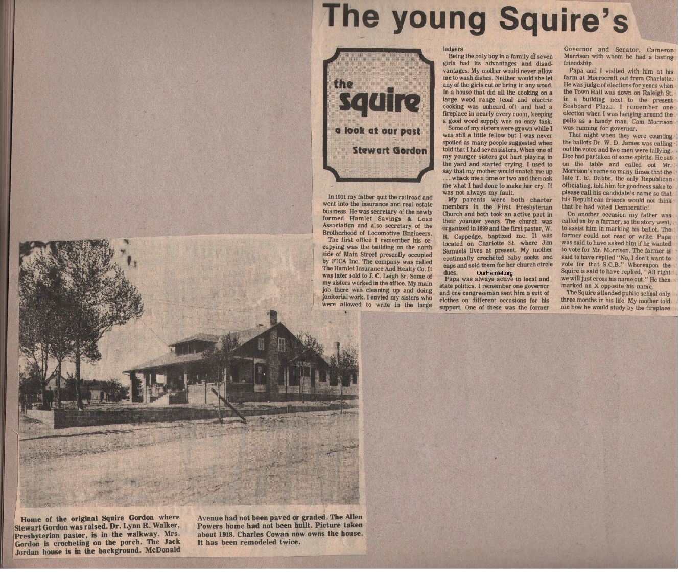 The Squire - The young Squire's relationship with his father a OH