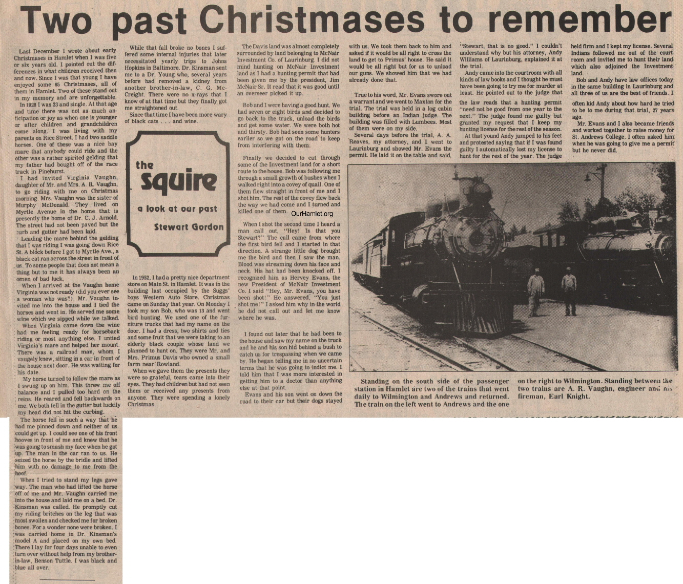 The Squire - Two past Christmases to remember OH