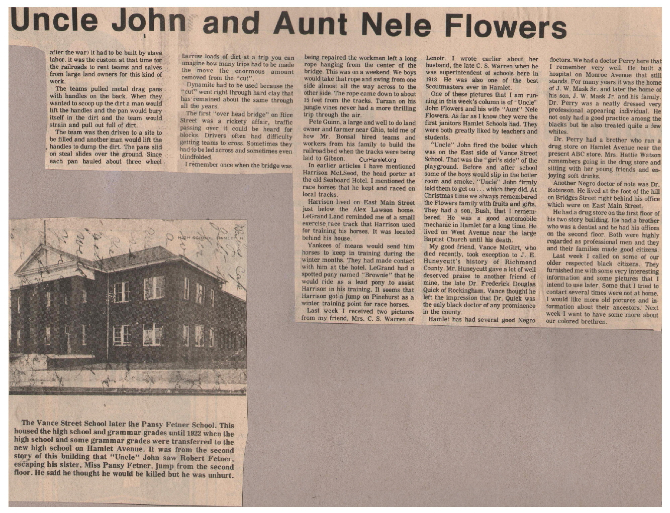 The Squire - Uncle John and Aunt Nele Flowers b OH